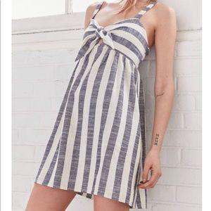UO Cooperative tie front striped mini dress
